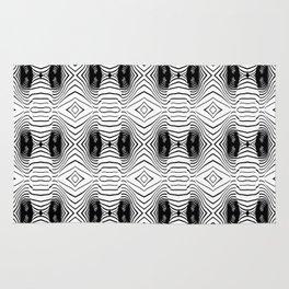 black wave lines  Rug