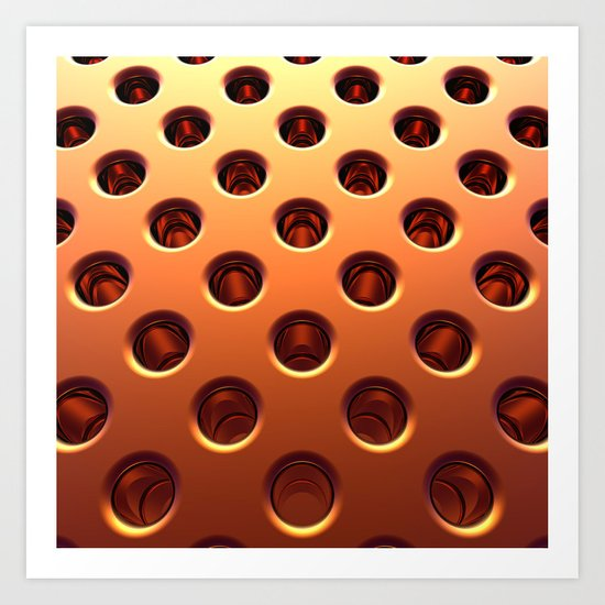 Shiny Holes Art Print