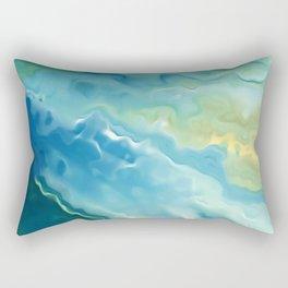 Surf Art, Beachy Tapestry and Surfer Prints Rectangular Pillow