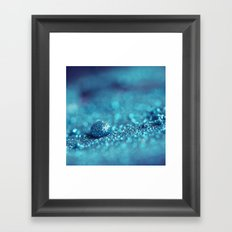 Blue Drop Framed Art Print