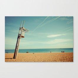 Barcelona: Barceloneta Beach Canvas Print