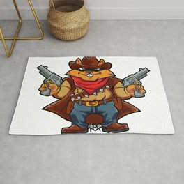 Squirrel Bandit Rug