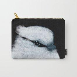 White Bird Black Background #decor #society6 #buyart Carry-All Pouch