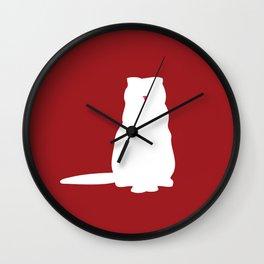 Cat Silhouettes: Scottish Fold Wall Clock