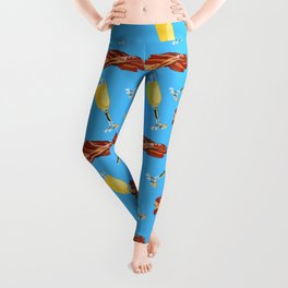 Mimosas and Bacon, Brunch Time Leggings