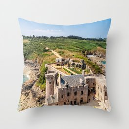 Castle in  Brittany Throw Pillow