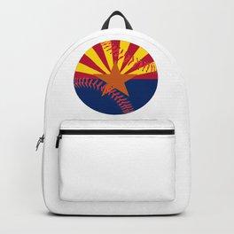 Arizona Flag Baseball Backpack