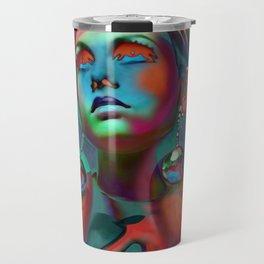 """""""Psychedelic Pop Fantasy"""" (Twiggy II) Travel Mug"""