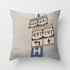 Old route... new route Throw Pillow
