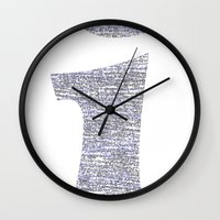 physics Wall Clocks featuring i - Physics Rosetta Stone [T-Shirts / Hoodies / Tote Bags] by Design Gregory