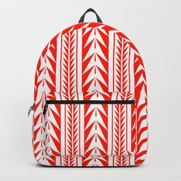 Tribal Stripes Red Backpack