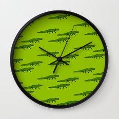 Alligators-Green Wall Clock