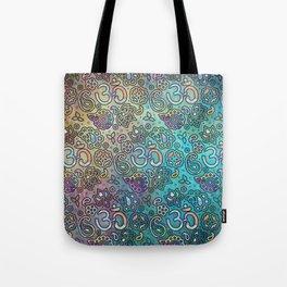 Pastel  Turquoise watercolor  OM symbol pattern Tote Bag