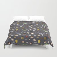 starwars Duvet Covers featuring Starwars pattern by Slambear