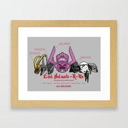 Evil Helmets-R-Us Framed Art Print