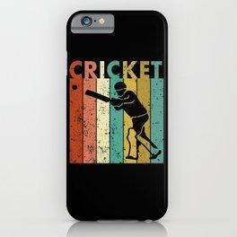 Cricket Bowler Bat Cricketer Gift iPhone Case
