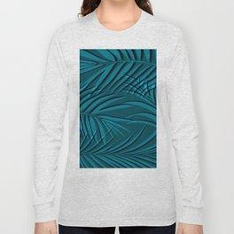 Turquiose palm leaf Long Sleeve T-shirt