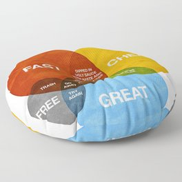 How Would You Like Your Graphic Design? Floor Pillow