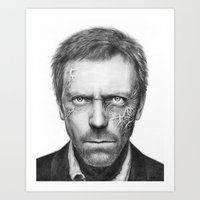 house md Art Prints featuring House MD by Olechka