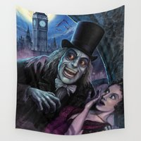 beaver Wall Tapestries featuring Vampire of London by Scott Jackson Monsterman Graphic