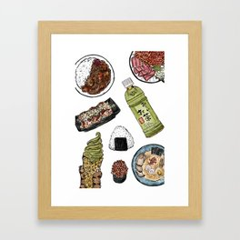 Favourite Japanese Foods 2 Framed Art Print