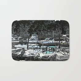 all Boats in a Row Bath Mat