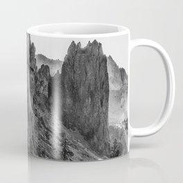 Smith Rock Morning Glow bw Coffee Mug