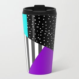 Geometric patchwork 6 Metal Travel Mug