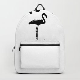 We Are The Three Flamingos Silhouette In Black Backpack