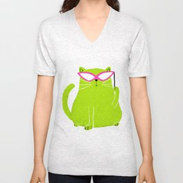 Cat in Disguise  Unisex V-Neck