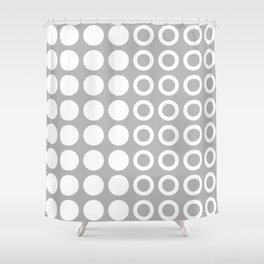 Mid Century Modern Circles And Dots Grey 2 Shower Curtain