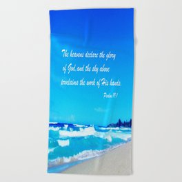 Psalm 19 Beach Towel