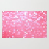 bubblegum Area & Throw Rugs featuring Bubblegum Pink Pixels by 2sweet4words Designs