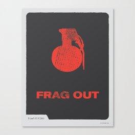 Frag Out Canvas Print