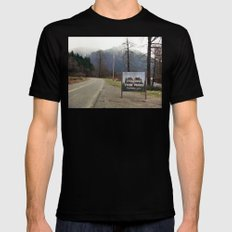 Welcome to Twin Peaks Black MEDIUM Mens Fitted Tee
