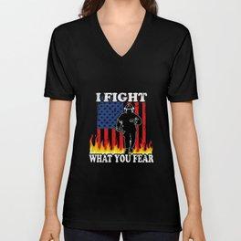 Fireman fight Fire Unisex V-Neck