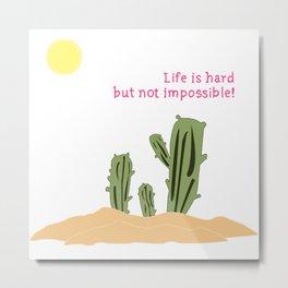 Cactus/Desert_concept_Design Metal Print
