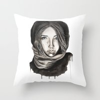 ice Throw Pillows featuring Ice by Kylerg