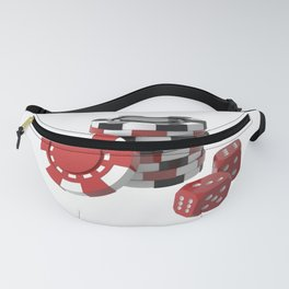 casino chips and dice Fanny Pack