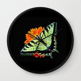 Glow Butterfly 2 Wall Clock