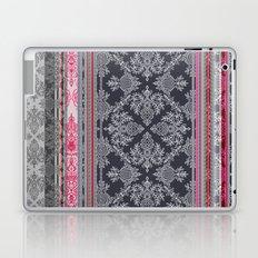 Burgundy, Pink, Navy & Grey Vintage Bohemian Wallpaper Laptop & iPad Skin