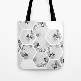 Hexagon Flowers. Tote Bag