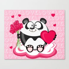 Valentin panda in February month series Canvas Print