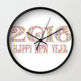 Happy new year 2016 Wall Clock