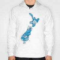 new zealand Hoodies featuring NEW ZEAlAND  by Jun Arita