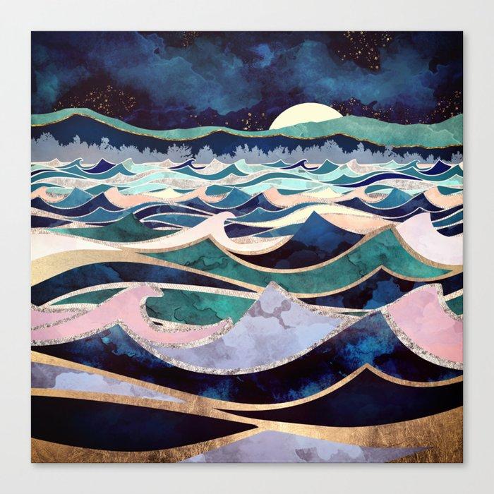 Moonlit Ocean Canvas Print
