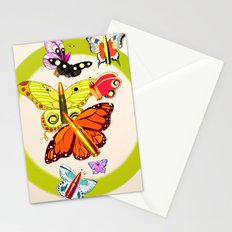 Bullet with Butterfly Wings Stationery Cards