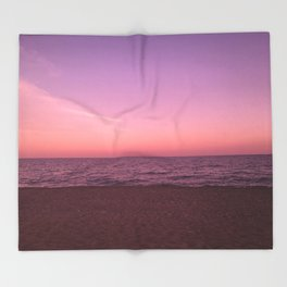 Sunset in Camini Throw Blanket