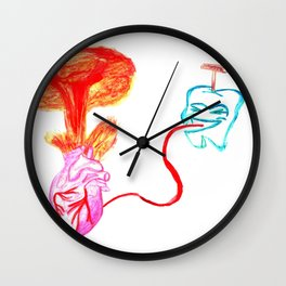 Explosive heart Wall Clock