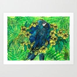 Macaw Ipê Flower Art Print